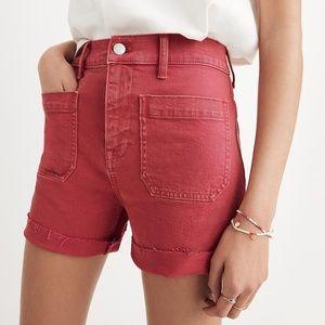 Madewell High Rise Denim Shorts Garment-Dyed 28